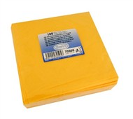 Ubrousky 1-vrstvé, 33x33, žluté