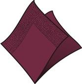 Ubrousky 2-vrstvé, 33x33, bordó