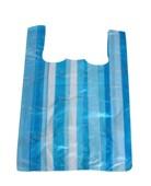 Taška 4kg 25+12x45-modrobílá-pruhy