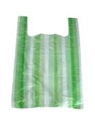 Taška 4kg 25+12x45-zelenobílá-pruhy
