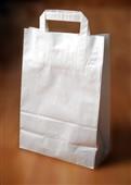 Papírové taška 32+12x41, ploché ucho, bělený sulfát, 80 g